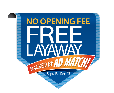 Layaway at Kmart is available in store and online, with a $10 down payment. Payments can be made either way, but then pickup your item or get it shipped to you. Payments can be made either way, but then pickup your item or get it shipped to you.